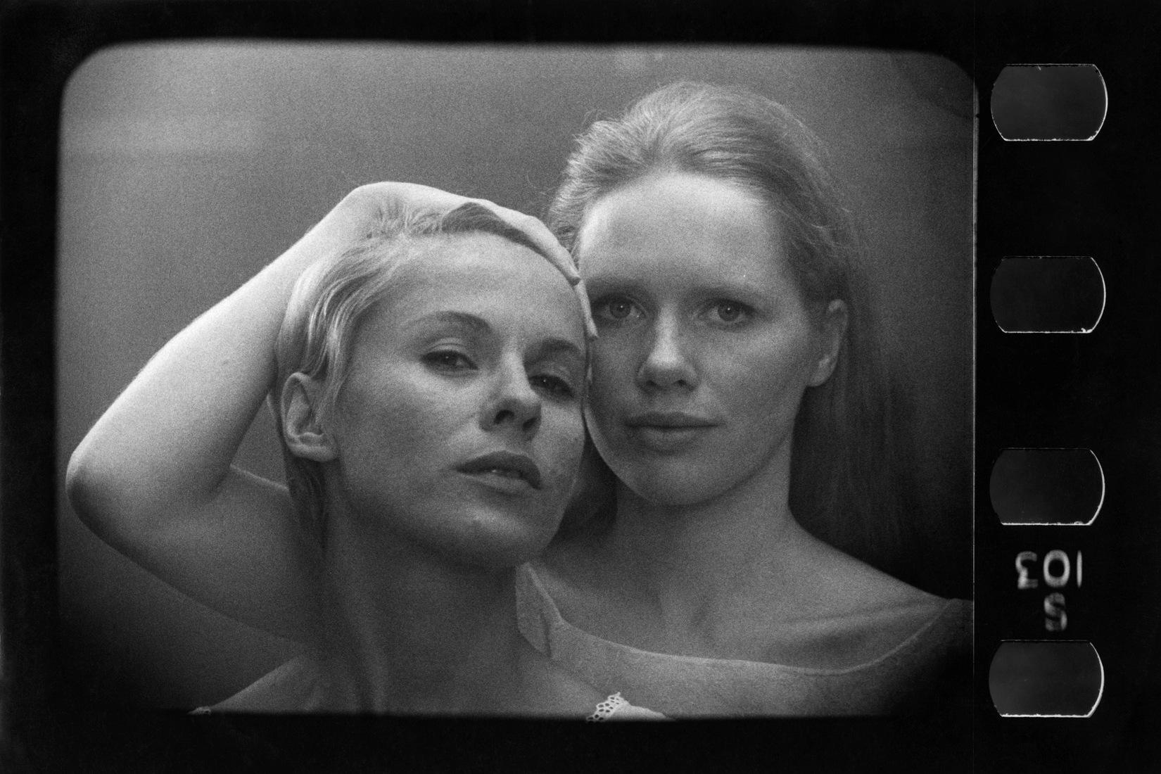Portrait des actrices Bibi Andersson, Liv Ullmann