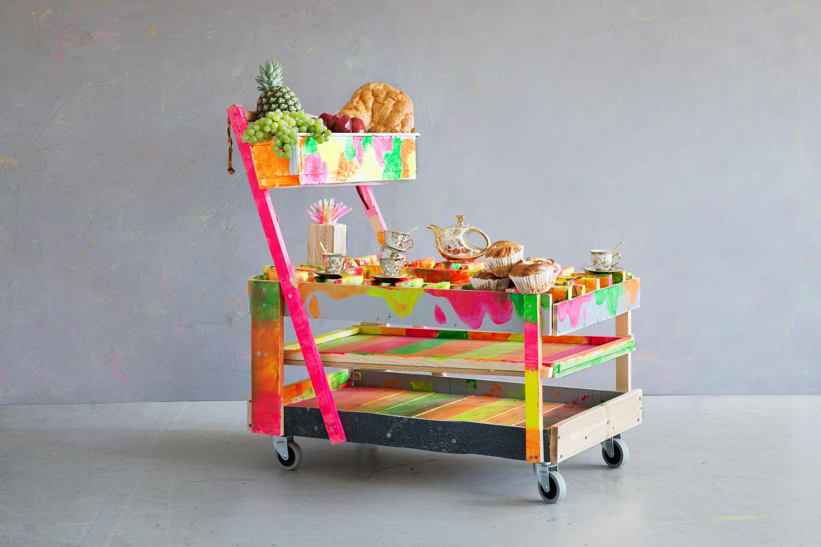 Une chariot créatif réalisé par des enfants