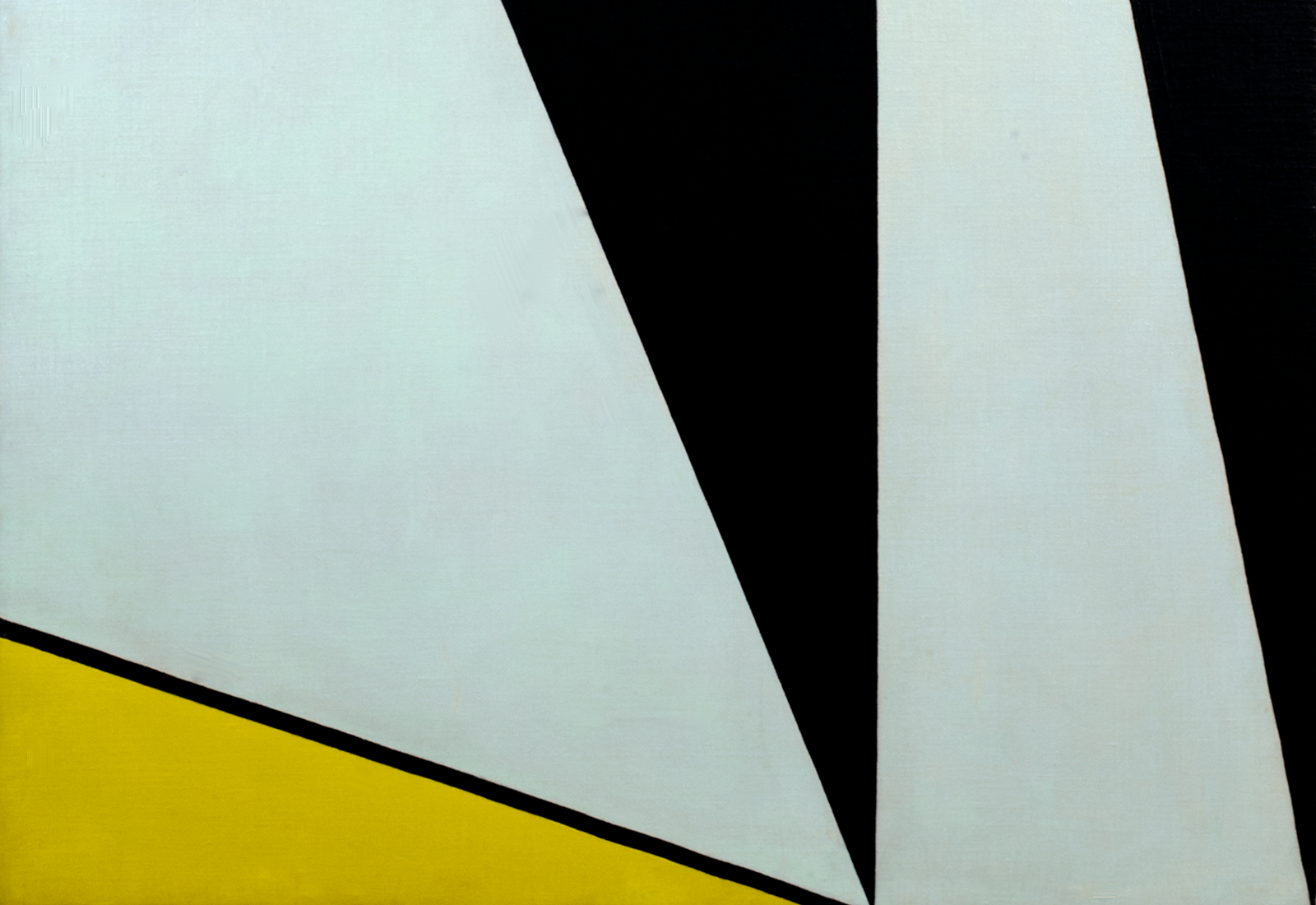 Peinture d'Olle Baertling montrant des triangles