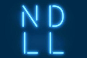 Les lettres NDLL en lumière