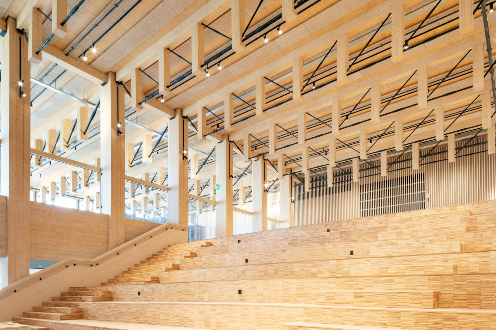 Wooden interior from Sara cultural house