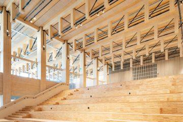 Intérieur en bois de Sara Kulturhus